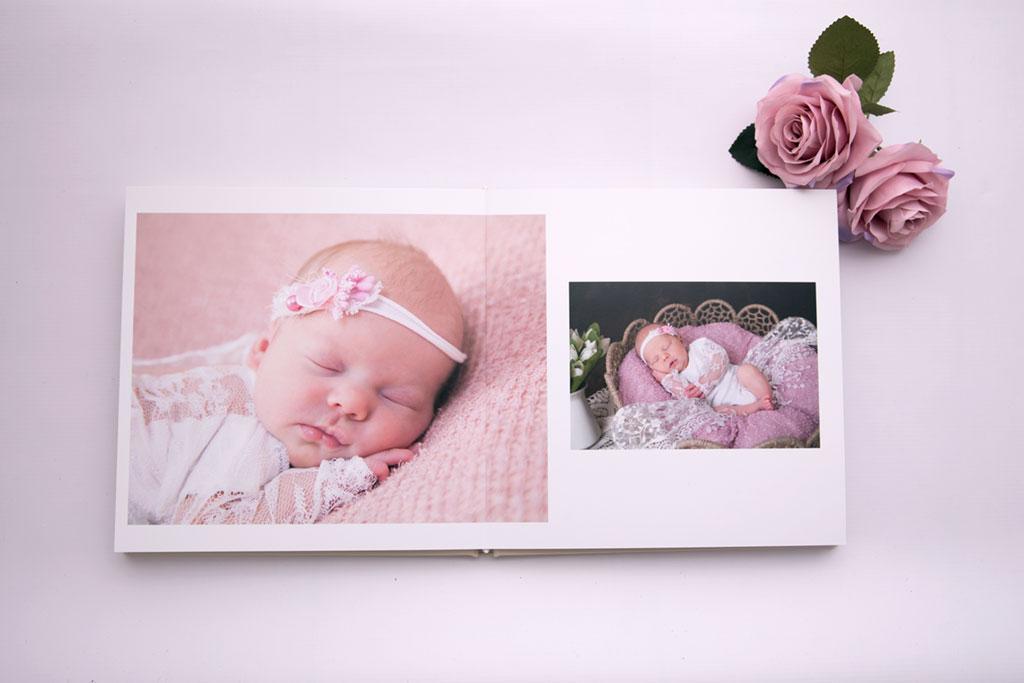 Schönes Fotoalbum mit euren Erinnerungen aus dem Newborn Shooting Köln